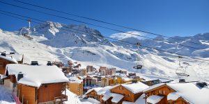 Vinterstemning i Val Thorens i Frankrike