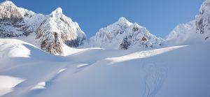 Skispor på Isbre
