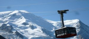 Gondol til Aguille du Midi i Chamonix i Alpene