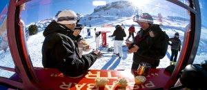 Lunsj i Cortina d'Ampezzo i Italia