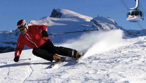 På ski i Engelberg i Alpene