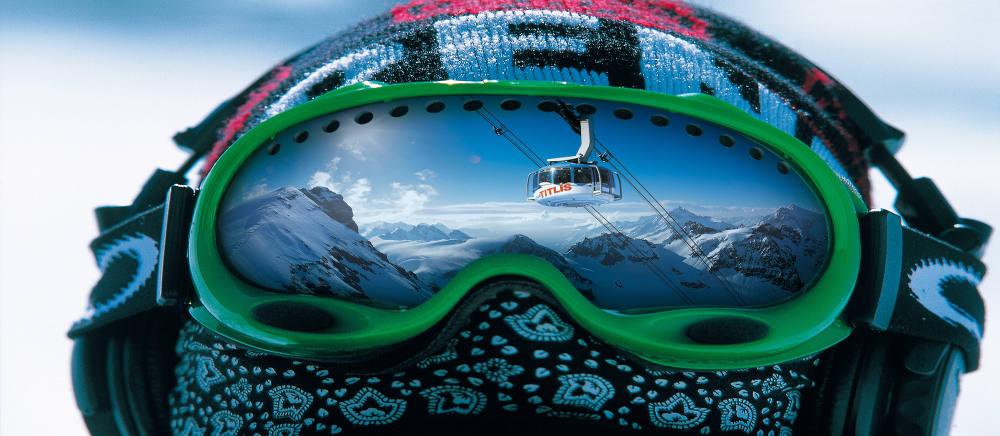 Skibrille Mütze Kopf Spiegel;Skiing Goggles Cap Head Mirror;