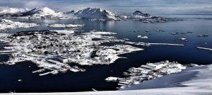 Vinter i Lofoten, Norge