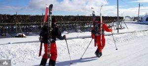 På ski i Lofoten, Norge
