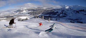 på ski i Megeve i Frankrike