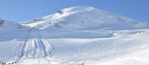 Isbre i Saas Fee i Alpene