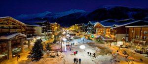 Kveldsstemning i Alpene. Her fra Val d'Isere, Frankrike