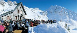 Lunsjrestaurant i Verbier i Sveits