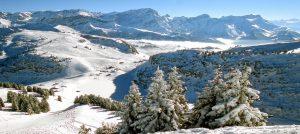 Panorama over Villars i Sveits