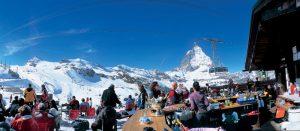 Lunsjrestaurant i Zermatt, Sveits