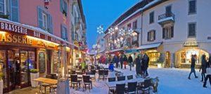 Vinterstemning i Chamonix, Frankrike