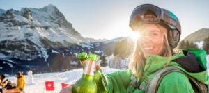 Afterski i Grindelwald-First i Sveits