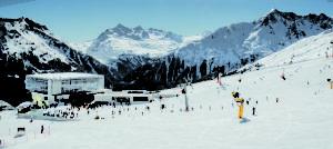 Giggijochbahn. Vinter i Sölden i Østerrike
