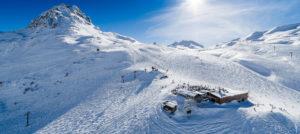 På ski i Val d'Isere, Frankrike