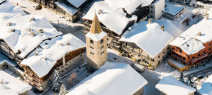 Vinteridyll i Val d'Isere, Frankrike