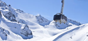 Mont-Fort. Gondol i Alpene over skiløypene i Verbier, Sveits