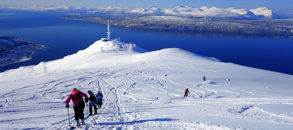 topptur i Narvik på narvikfjellet