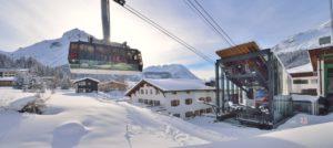 Gondol i Lech-Zuers i Alpene