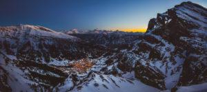 Leukerbad, Sveits i vinterpanorama