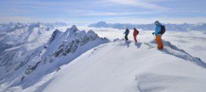 Offpiste i St. Anton am Arlberg i Østerrike
