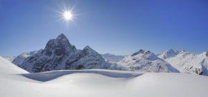 Vakker utsikt over Alpene i St. Anton am Arlberg